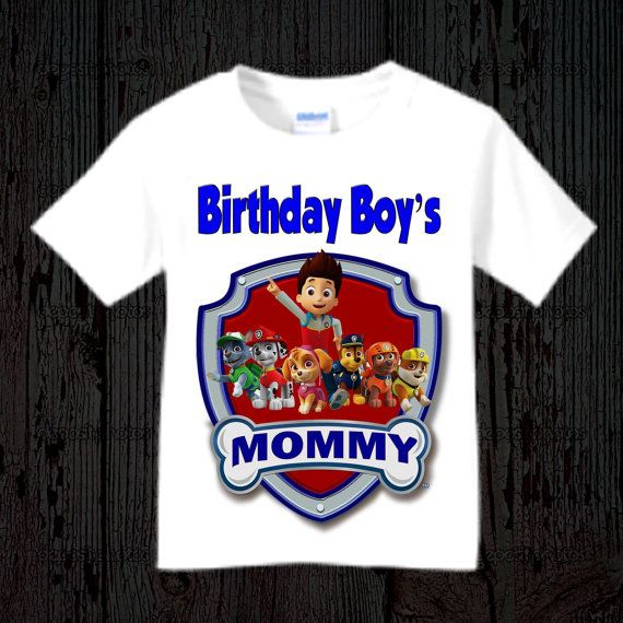 Paw Patrol Mom Shirt Adult By BirthdaysGalore On Etsy
