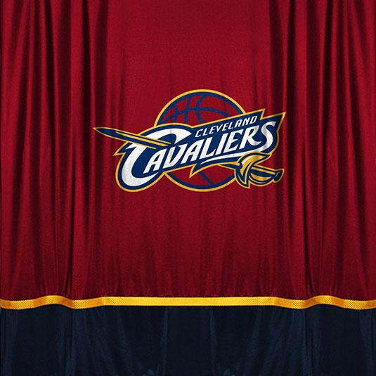 Nba Cleveland Cavaliers Jersey Shower Curtain Fabric Shower
