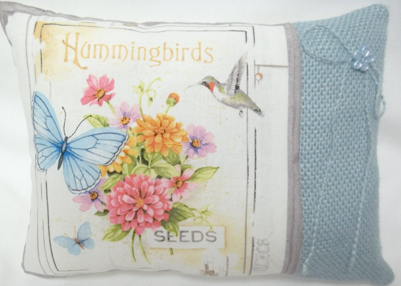Etsy Throw Pillows Hummingbird Butterfly Flower Garden Mini Pillow Pillows Etsy
