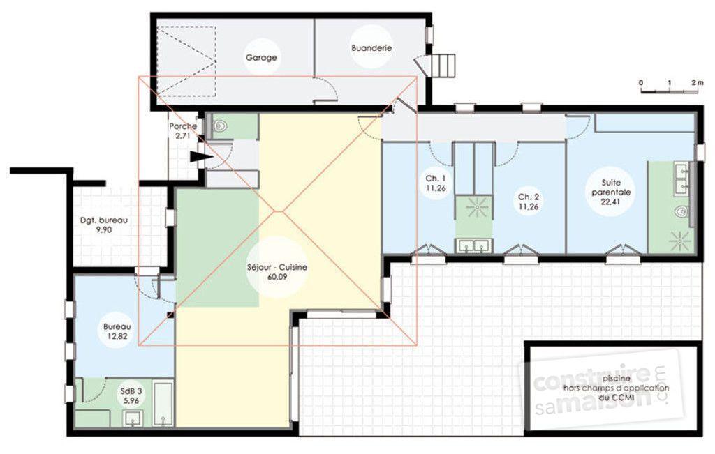 Maison de plain-pied 6 - Plan Gratuit De Maison Plain Pied