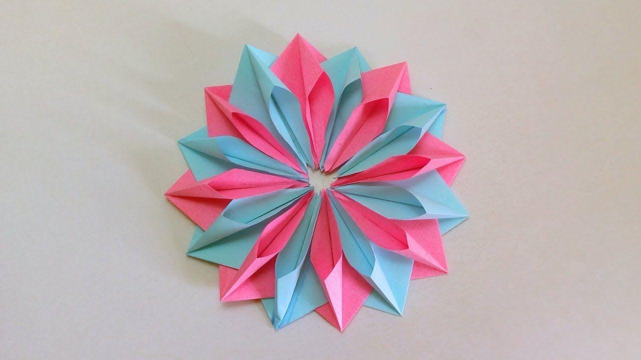 Paper Flower Tutorial Easy Diy Paper Flower Making Room Decor