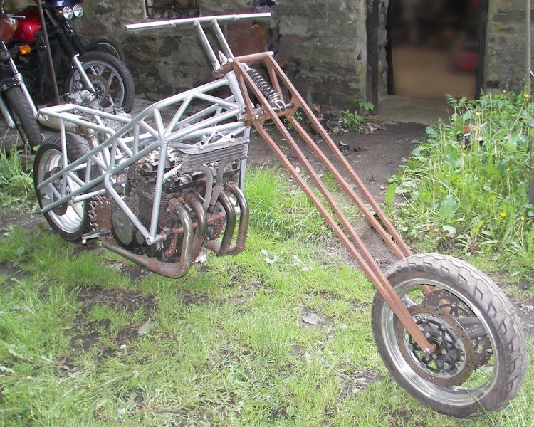 Yamaha Fj1200 Custom Chopper Motorcycle Frame Girders All Things