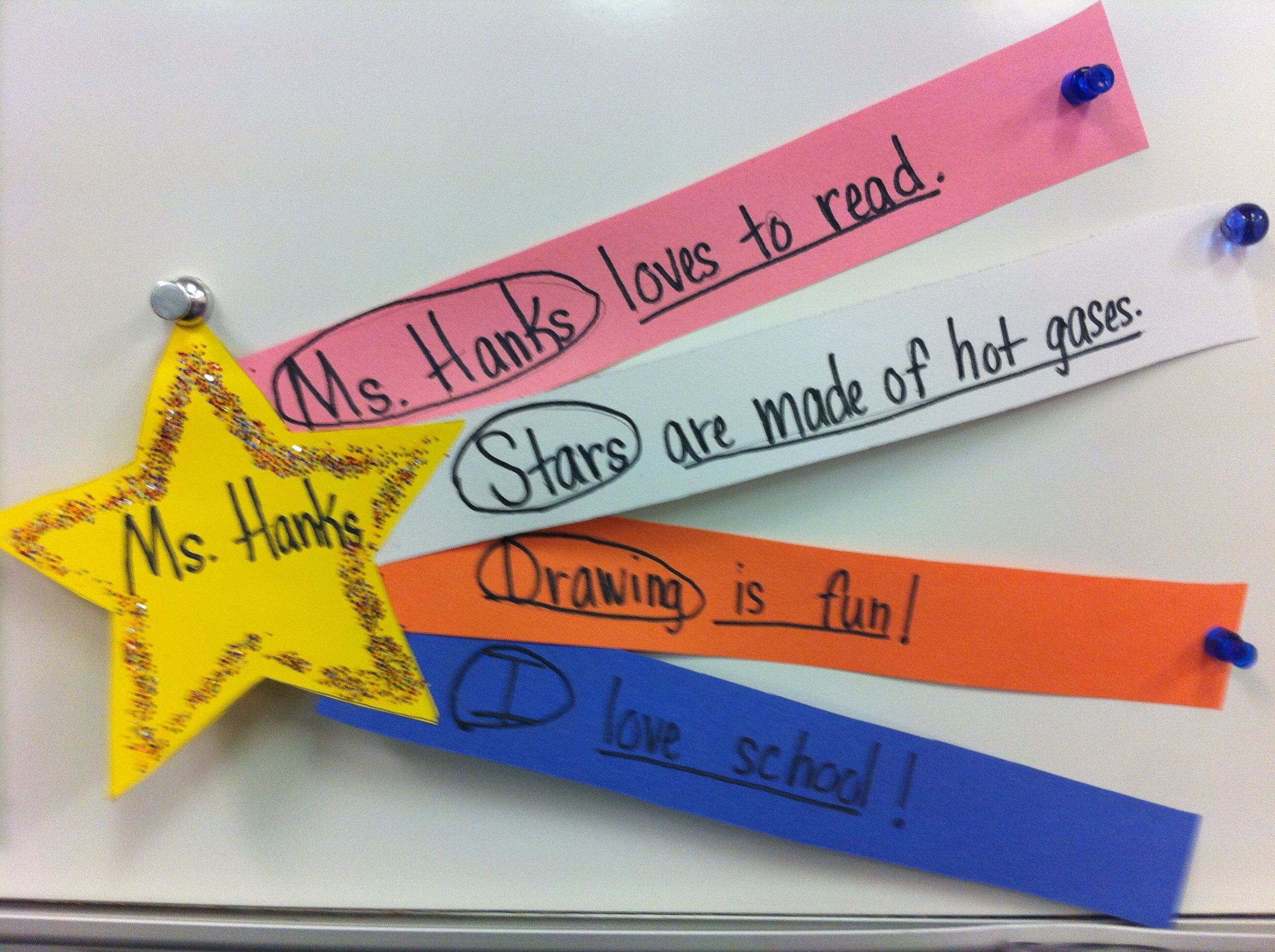 Parts Of A Sentence Shooting Star Students Circle The Subject And Underline The Predica Subject And Predicate Parts Of A Sentence Subject Predicate Activities