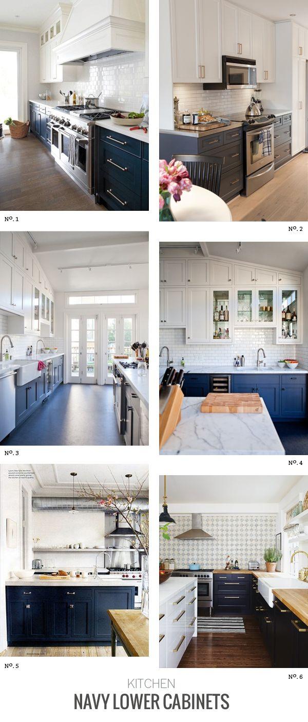 Interior Trends Navy Lower Cabinets   Modern Eve   Kitchen design ...