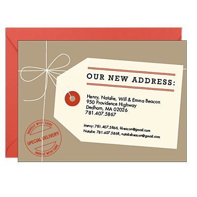 Great way to make sure everyone has your new address! Cause address forwards don't last forever