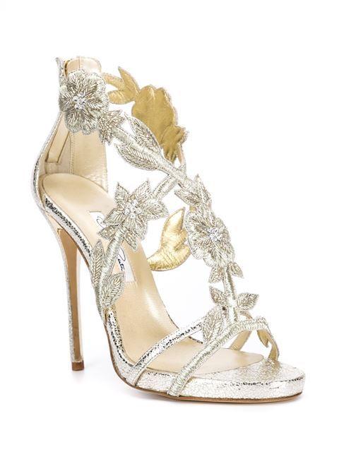 6039c1c7db0a Sky-high wedding heels from Oscar de la Renta featuring stunning floral  embroidery! Available at Julianne Boutique.  weddinginspo  weddingheels