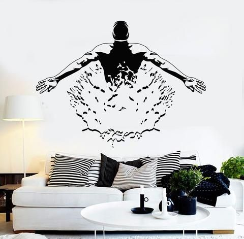 Vinyl wall decal swimmer pool swimming pool swim mural stickers unique gift ig4216 home decor pinterest wall vinyl swimming pools and walls