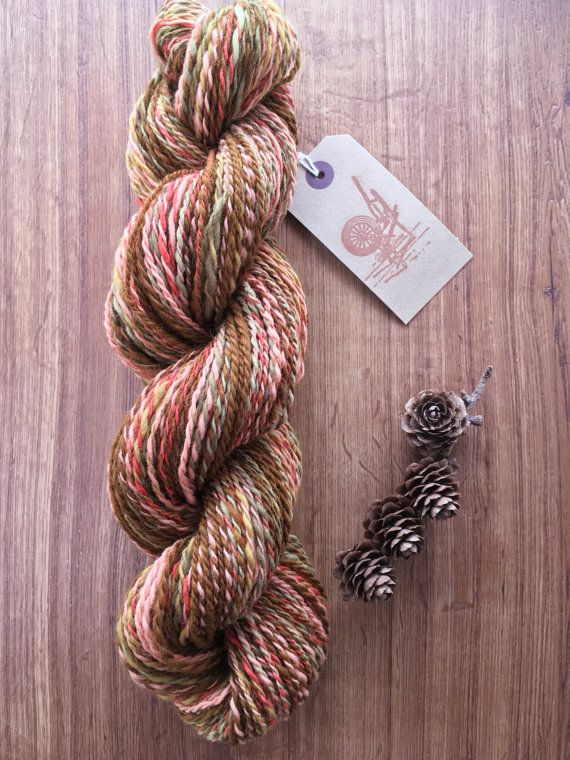 Naturally Plant Dyed, Handspun yarn. Shetland 115g 4oz (As Autumn Leaves Fall)