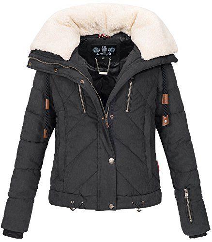 Navahoo Damen Designer Winter Jacke warme Winterjacke