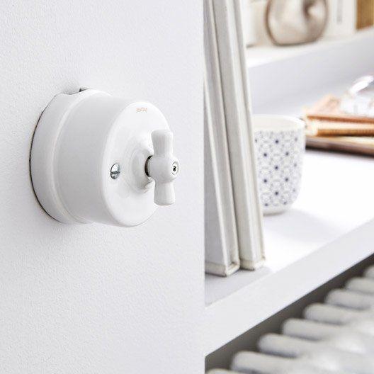 Interrupteur Garby, FONTINI, blanc { DECO } Pinterest - Meuble Wc Leroy Merlin
