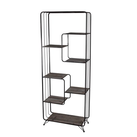 Home Bakers Rack Iron Wood Rack