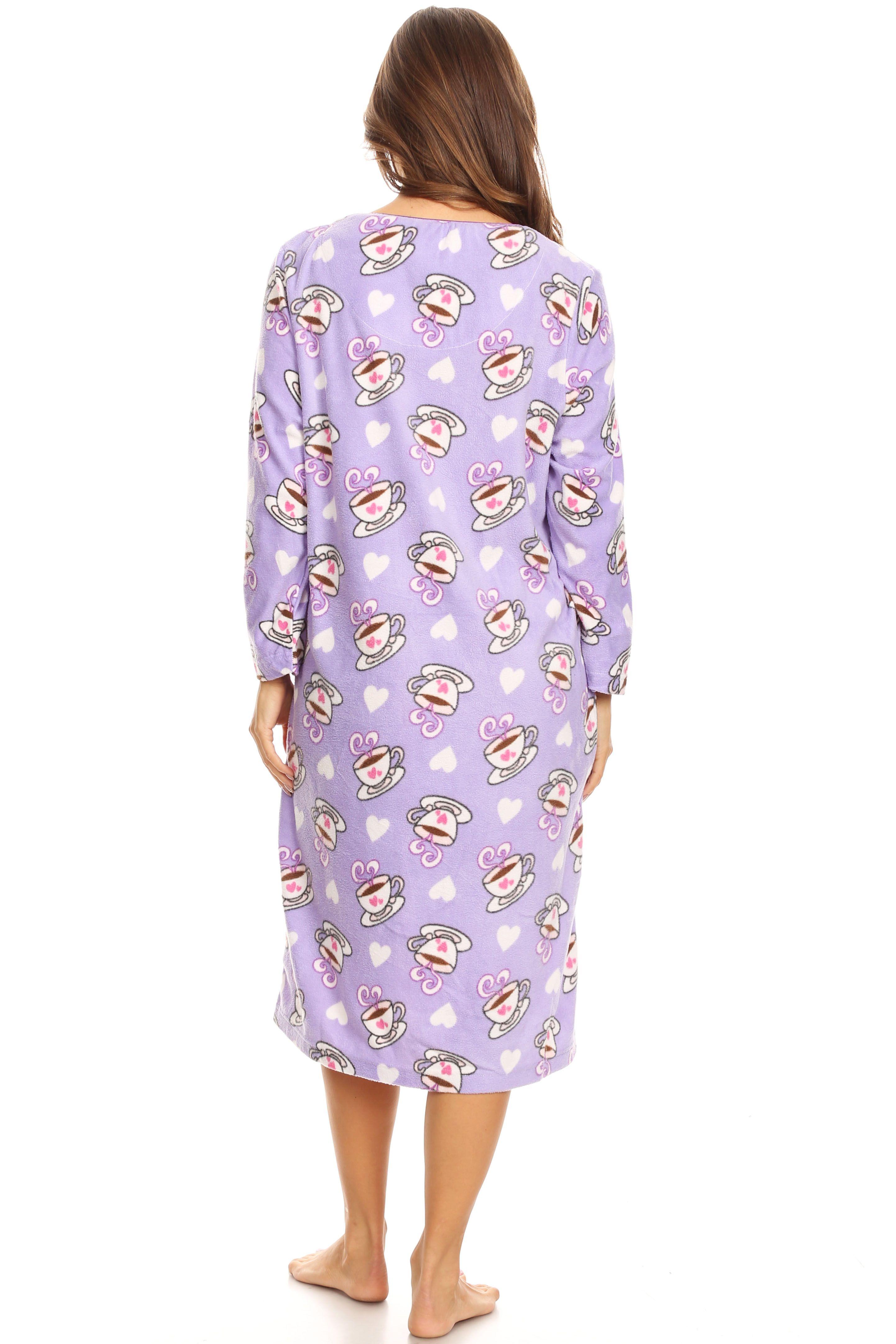 Premiere Fashion 14045 Fleece Womens Nightgown Sleepwear Pajamas Woman Long Sleeve Sleep Dress Nightshirt Purple L Walmart Com Nightgowns For Women Pajamas Women Women Long Sleeve [ 4326 x 2884 Pixel ]