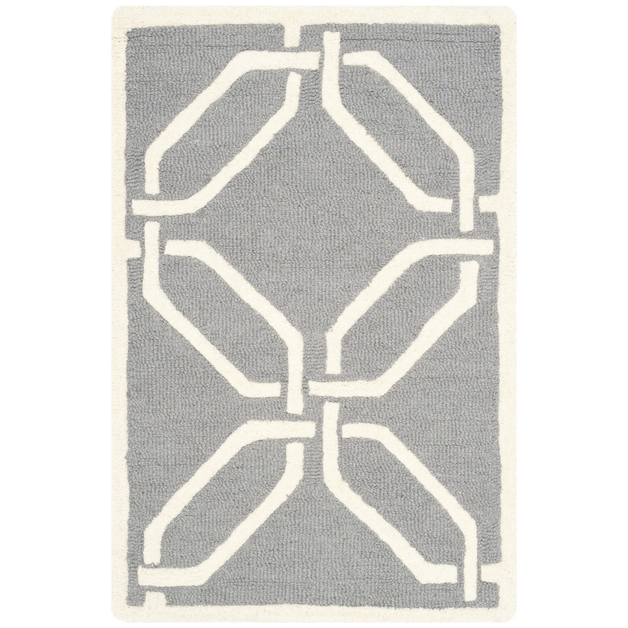 Martins Dark Grey/Ivory Area Rug