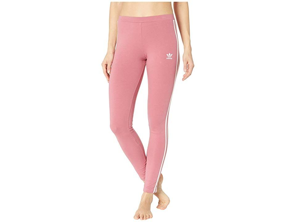 adidas Originals 3 Stripes Tights Trace Maroon Womens Workout This look can be worn so many ways but with every outfit youre sure to be swagged out Fitted design keeps ev...