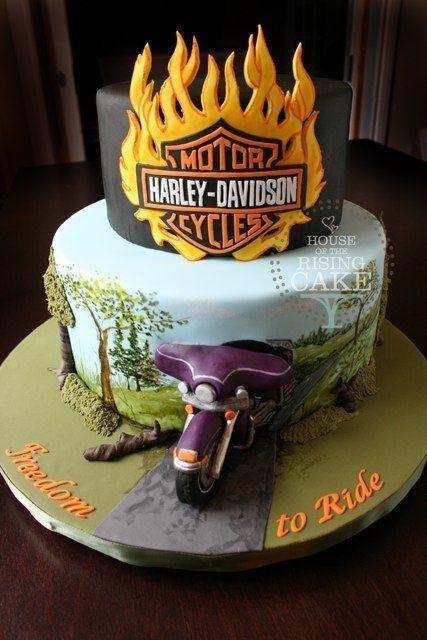 harley coming out of cake Tortas Decoradas Pinterest Cake