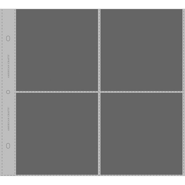 Includes 10 sheets with 3-4 x 6-inch pockets each 6 x 12-inch 3-Ring Album Page Protectors by American Crafts