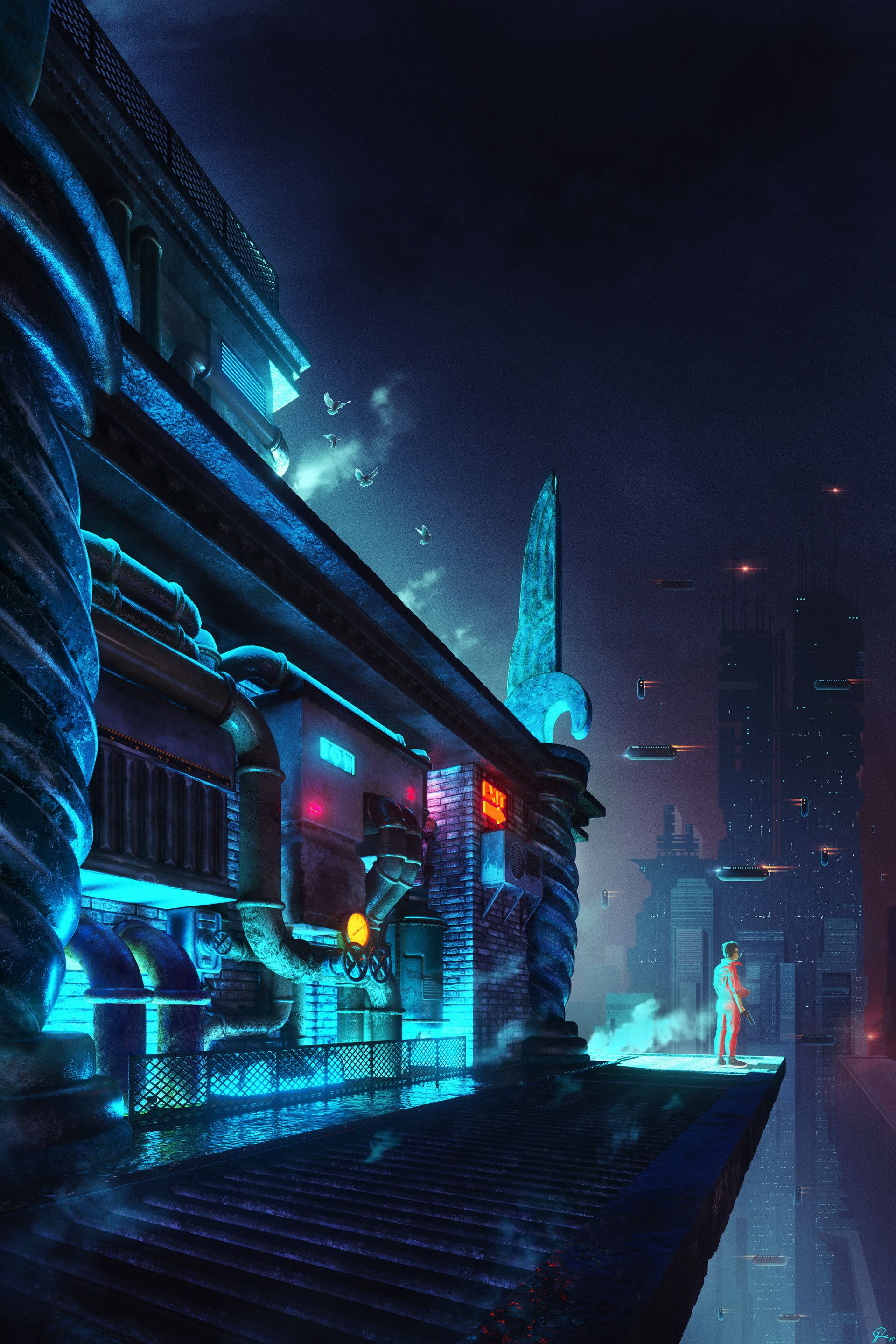 Cyber Deco by Stefan Djukic Futuristic city, Fantasy