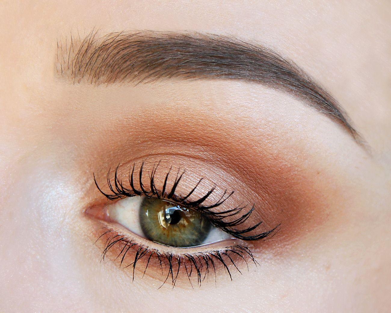 Soft warm smokey brown. Makeup Geek eyeshadows Crème