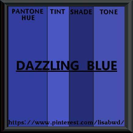 pantone seasonal color swatch dazzling blue | color thesaurus