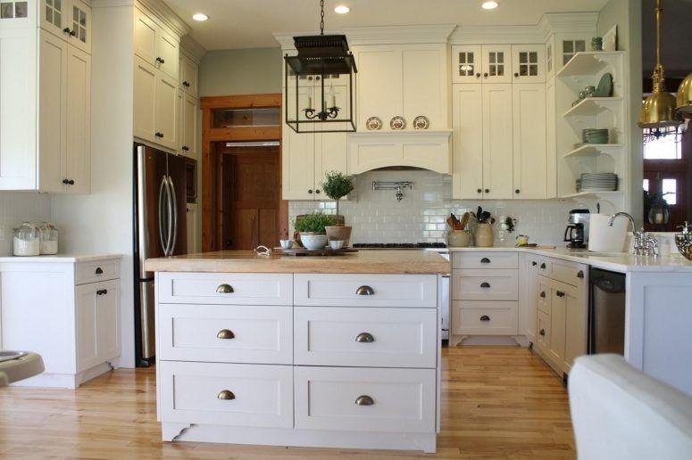 White kitchen double upper cabinets | Kitchen cabinets ...