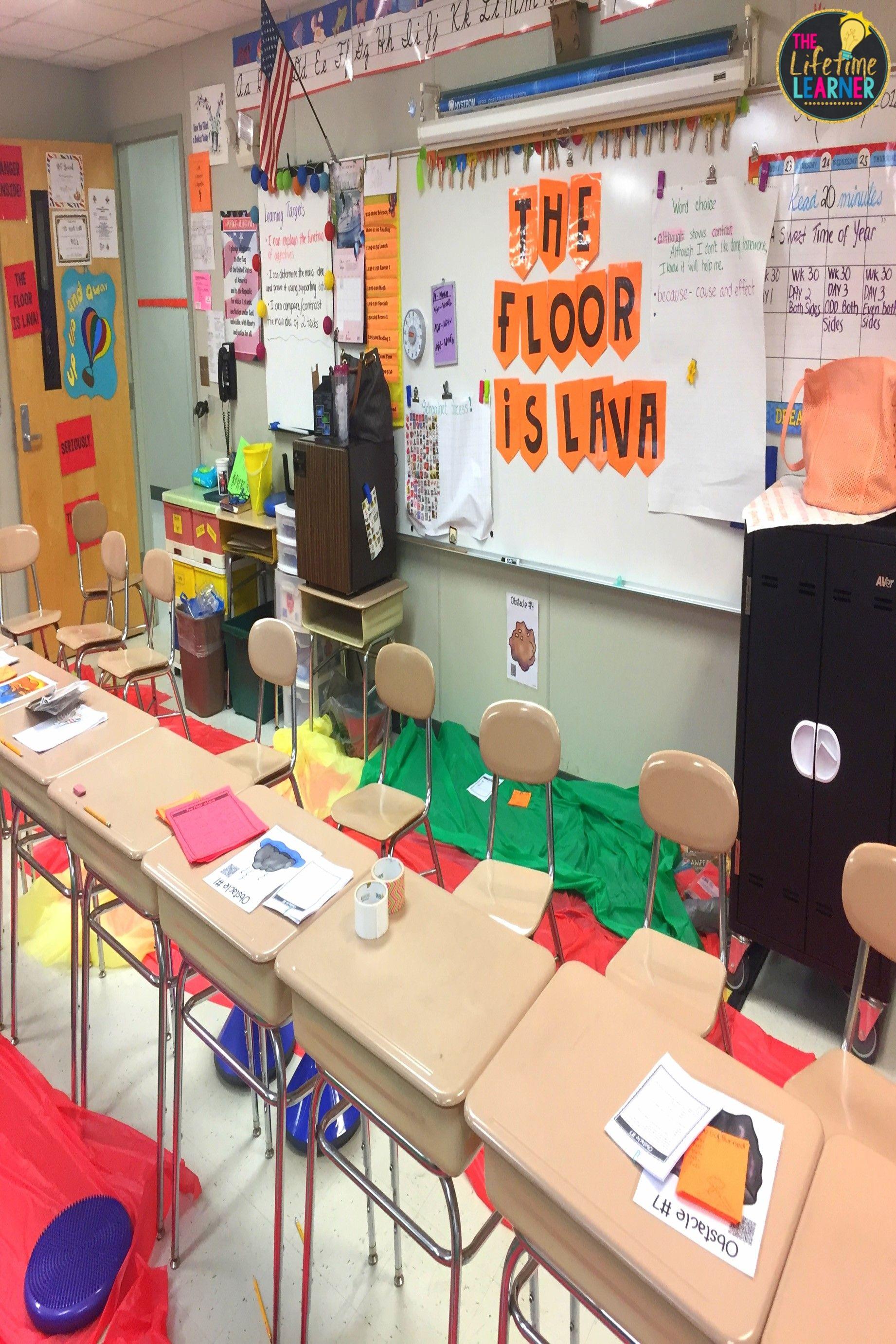 Third Grade Floor Is Lava Classroom Transformation