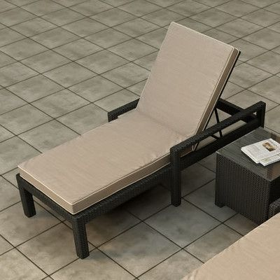 Forever Patio Barbados Chaise Lounge with Cushion Fabric Color: Spectrum Mushroom / Spectrum Sand Welt