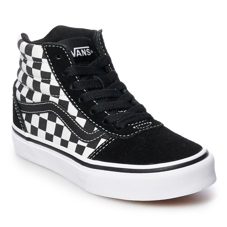 da7795bd78 Vans Ward Hi Checkered Boys  Skate Shoes