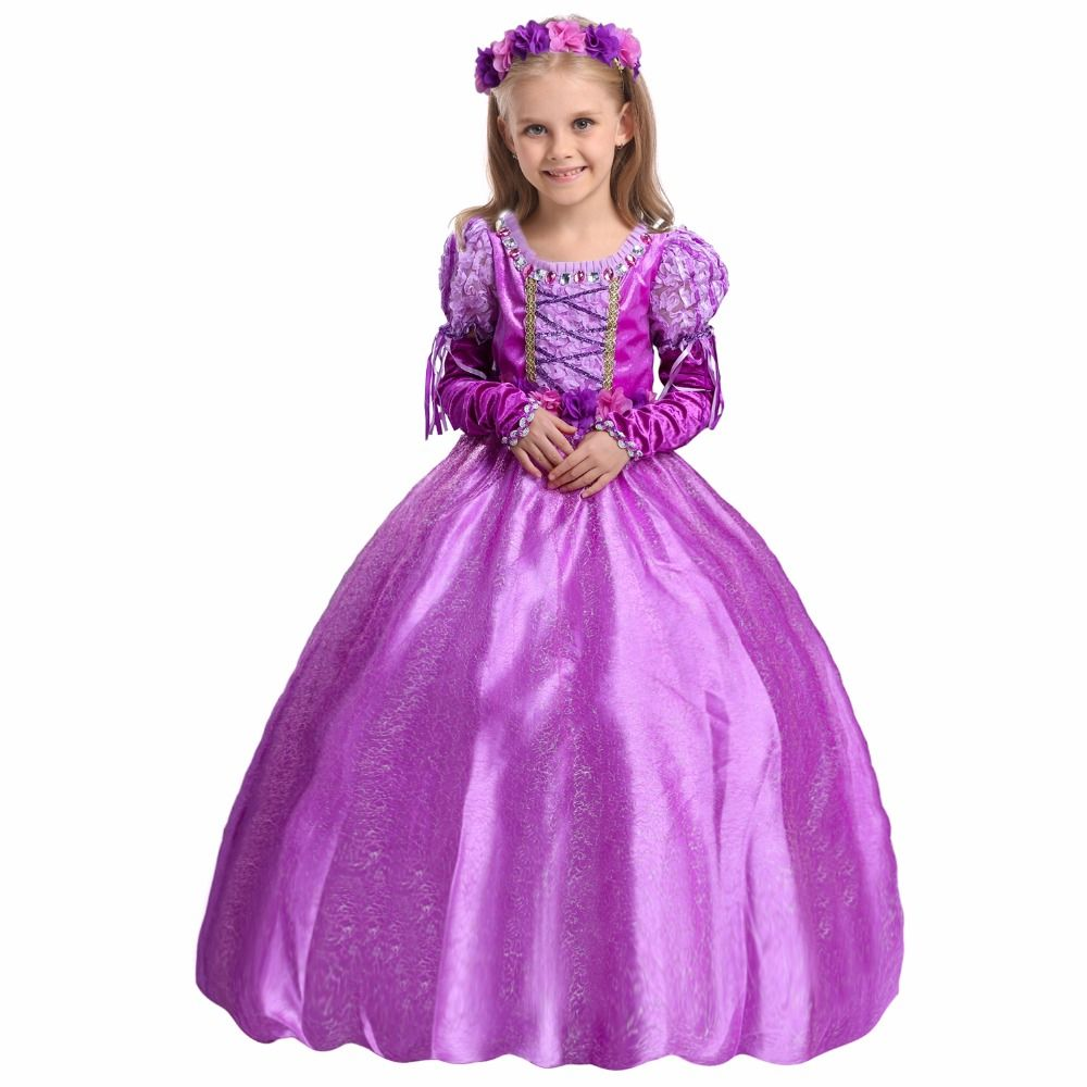 Fashion prinsessenjurken meisjes 2 to 13 years old children rapunzel ...
