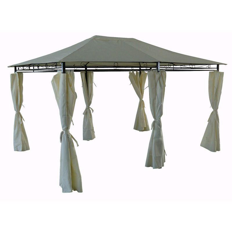 Tonnelle Pergola Rosita Beige En Polyester 4 X 3 X 2 6 M 1288 76462 Tonnelle Pergola Tente Jardin Pergola