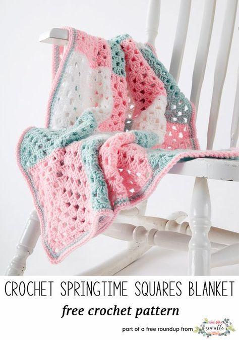 Best Crochet Baby Blankets For 2018 Easy Granny Square Crochet