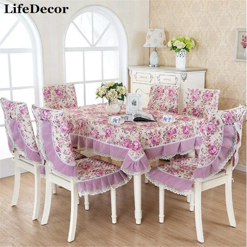 Dining Table Covers European Quilted Lace Edge Tablecloths Fashion Amusing Dining Room Tablecloths Decorating Design