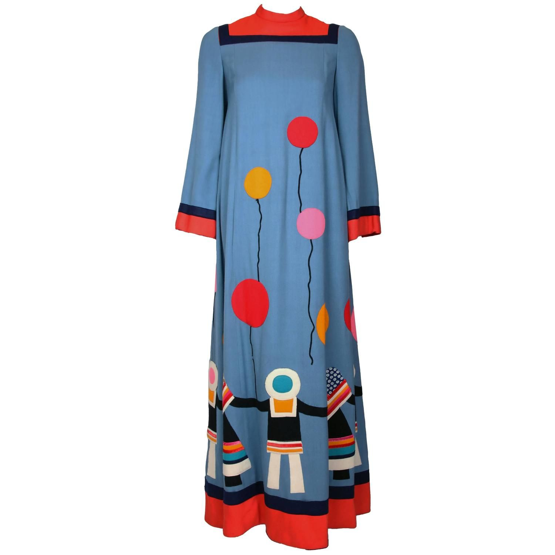 S malcolm starr maxi dress wfelt applique children u balloons