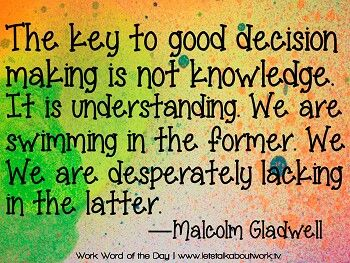 Good decision by Malcolm Gladwell