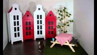 houten grachtenpand kindermeubel - YouTube