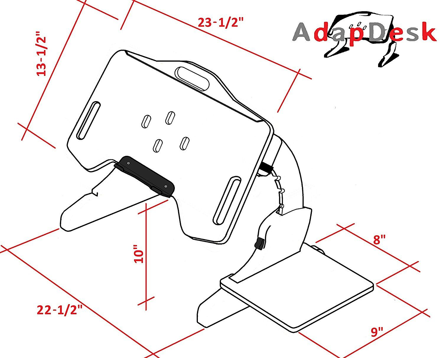 Adapdesk Portabe Foldable Adjustable Desk Laptop Bed Tray Notebook