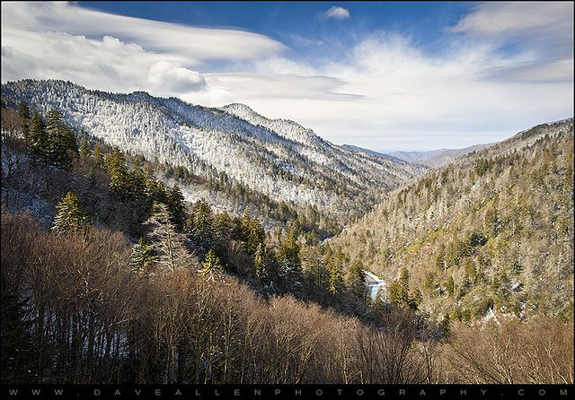 Great Smoky Mountains National Park Winter Snow Gatlinburg by Dave Allen Photography, via Flickr