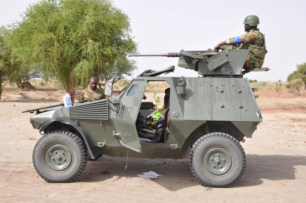 Nigerian Army Browning M2 12.7mm HMG-armed Panhard VBL M11 ...