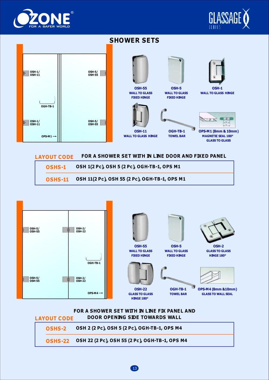 Frame Less Doors Showers Ready Reckoner Ozone Overseas Ltd Version Jpg Page N 13 Pdf Catalogues Documentation Brochure Ozone Shower Set Frame