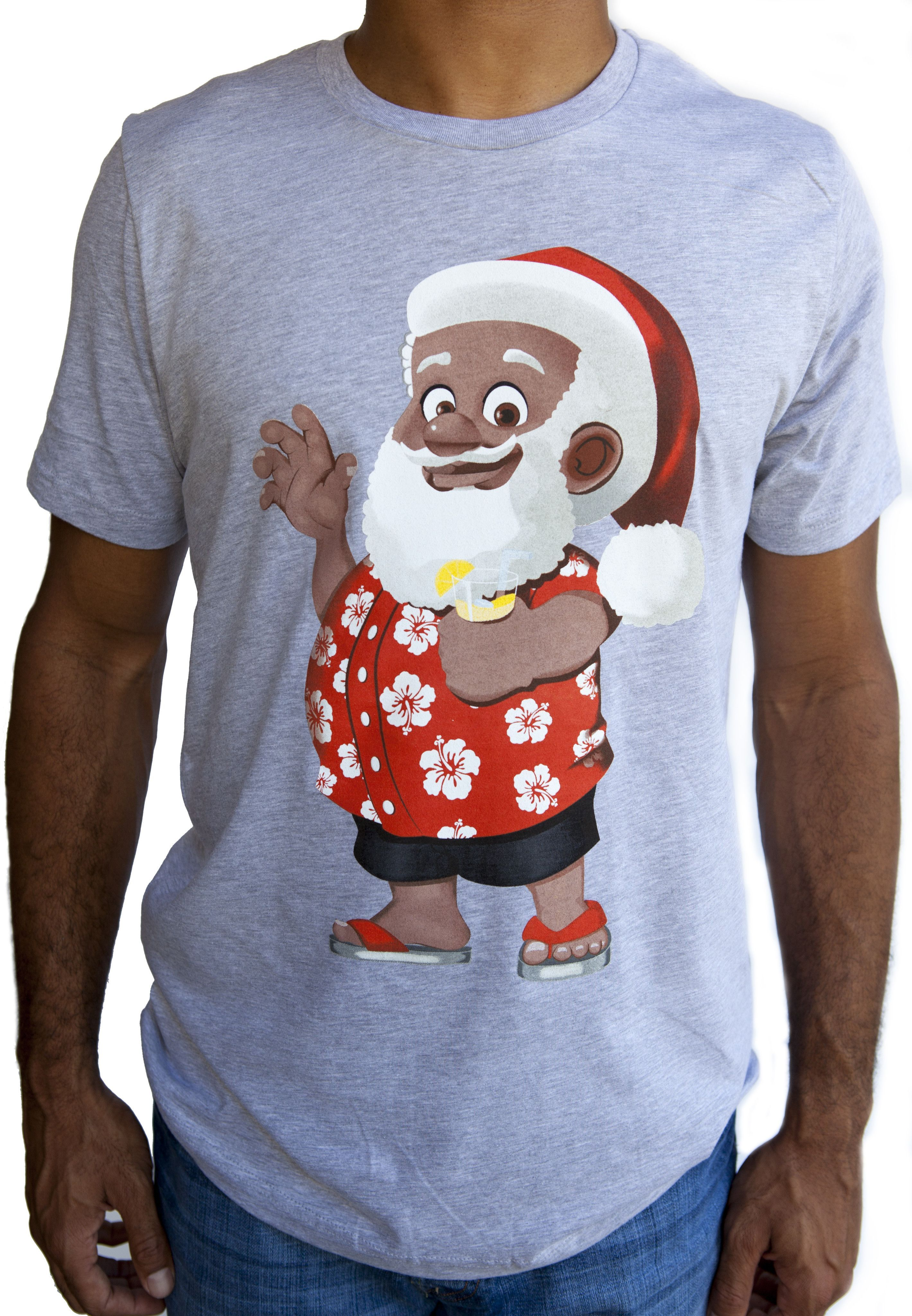 Summer Clarence Claus™ Heather Grey T Shirt | Shirts, T