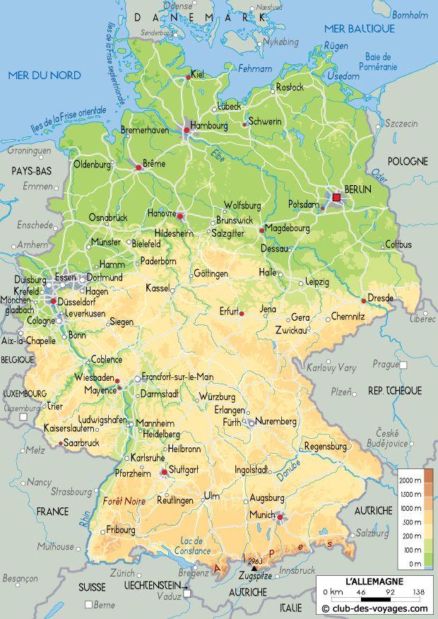 Carte De L Allemagne Carte Allemagne Carte Allemagne