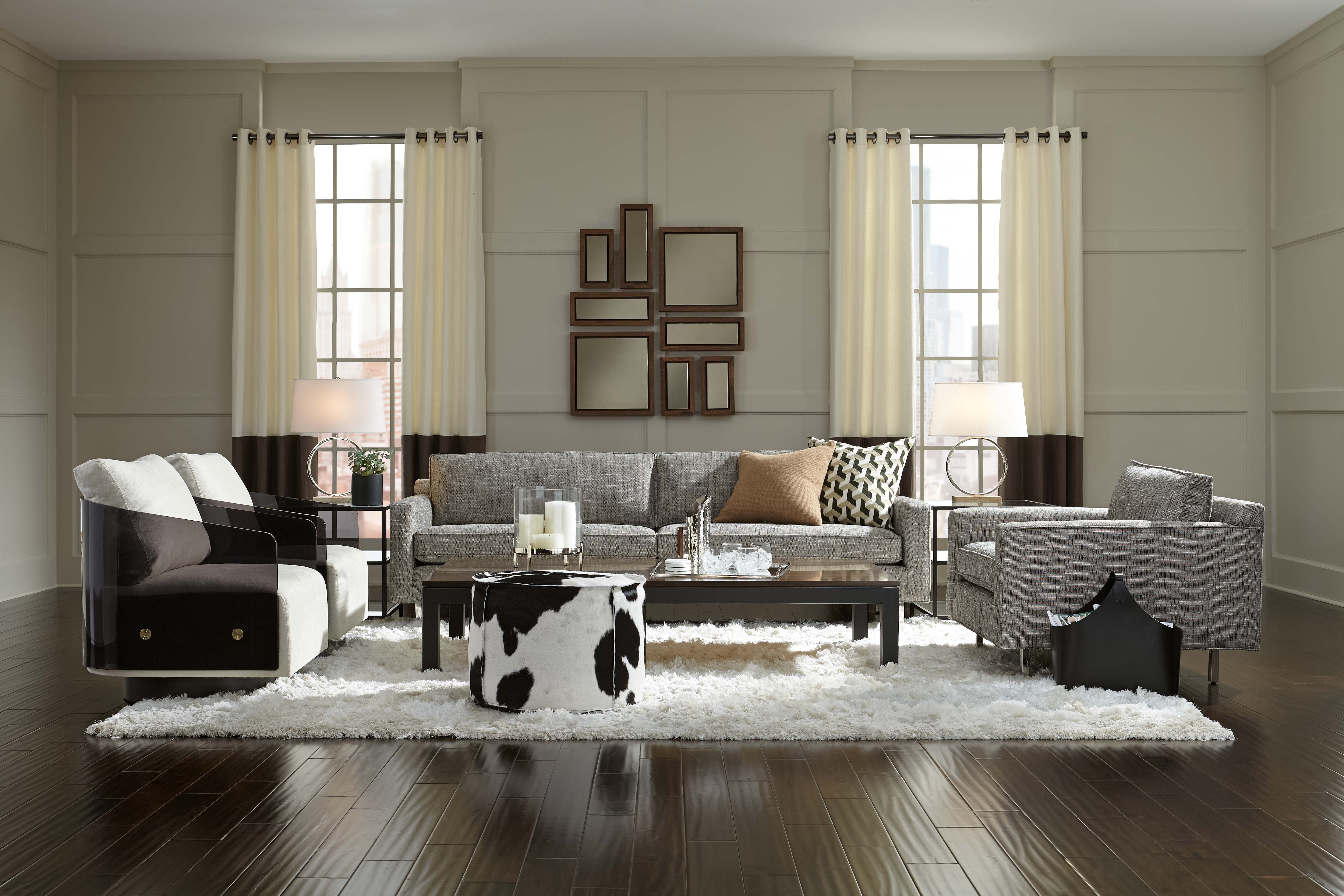 For The Urban Cowboy A Retreat That Blends Different Influences And Backgrounds With Chic City Style Living Rooms Living Room Decor Dining Bench Living