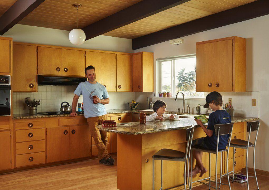 Image result for original mid century kitchen   Silver Beach Cottage ...