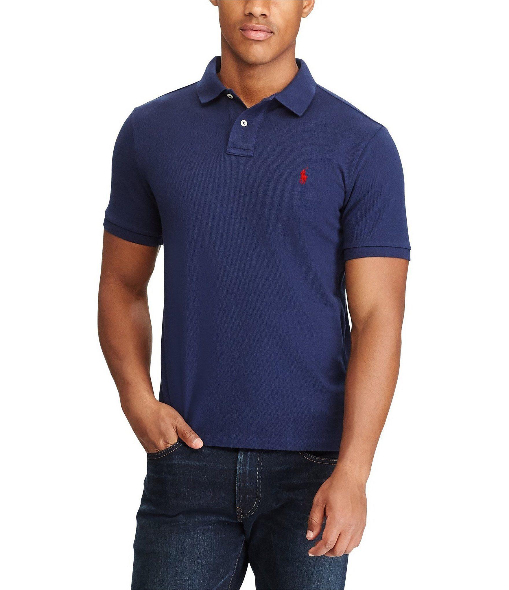 Polo Ralph Lauren Big Tall Classic Fit Short Sleeved Cotton Mesh Polo Shirt Newport Navy 4xt In 2020 Polo Ralph Lauren Polo Shirt Shirts