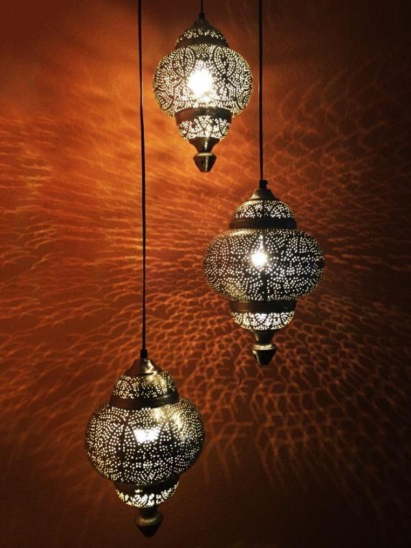 orientalische marokkanische silber leuchte h ngelampen lampen leuchten 155cm neu orientalische. Black Bedroom Furniture Sets. Home Design Ideas
