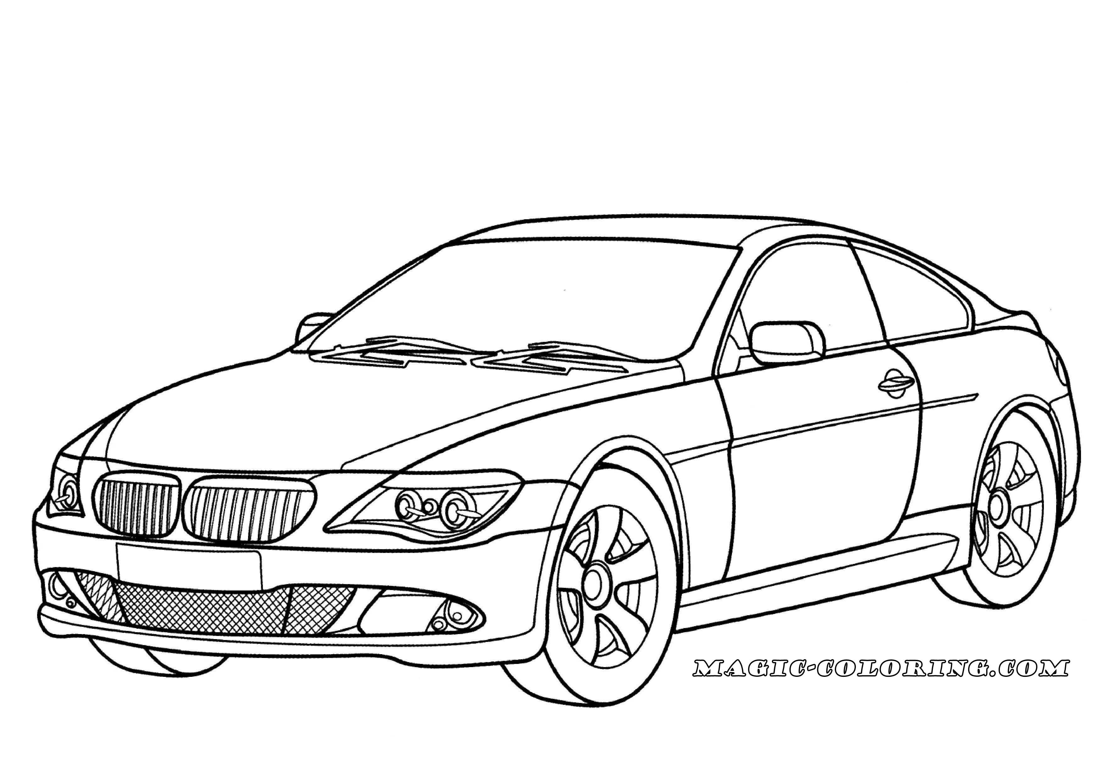 Transportation Coloring Pages Bmw Cars Coloring Pages Cars