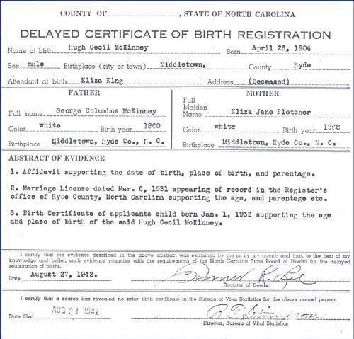 Importance of Delayed Birth Certificates | Genealogy | Pinterest ...