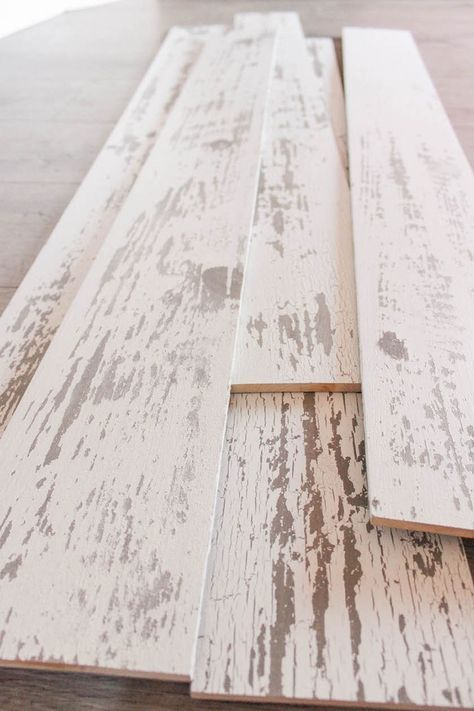 Timeline Wood Distressed White Panels
