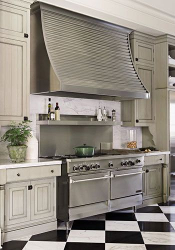Go Industrial With Corrugated Metal Kitchen Hoods Home Kitchens Kitchen Island Design