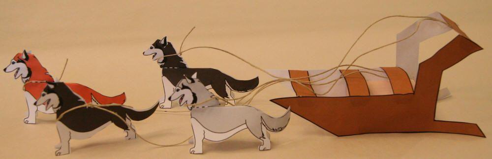 Dog Sled Paper Craft Dog Crafts Dog Sledding Shelter Dog