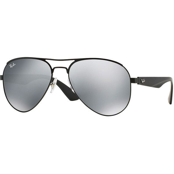 811801b9dc Ray-Ban Aviator Sunglasses with Mirrored Lenses ( 155) ❤ liked on Polyvore  featuring accessories
